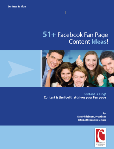 51 Facebook Fan Page Content Ideas for your Business