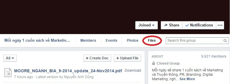 [Post 6] How to add a file to a facebook group 1