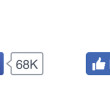 "Facebook has changed the ""like"" button – up 6% respectively like"